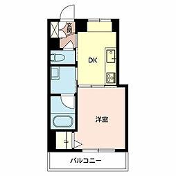 Shamaison I'm 3階1DKの間取り