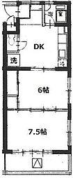 第五石峰ビル[4階]の間取り