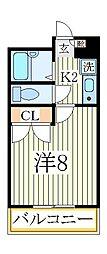 EMBRESS青山[1階]の間取り