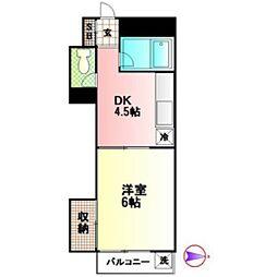 LAZ TOKAIDAIGAKUMAE[2C号室]の間取り