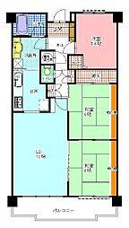 ブライトタウン西伝寺(906)[906号室]の間取り