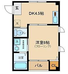 カーサ東新宿[102号室]の間取り
