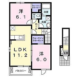 ラディエンスB[0201号室]の間取り