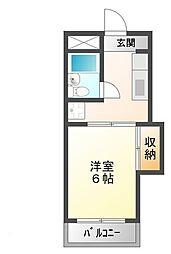 レジデンス東海[3階]の間取り