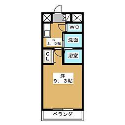ボヌール津金[3階]の間取り