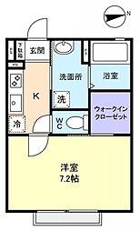 ソレイユ勝田台[2階]の間取り