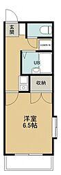 メゾンドール若狭B棟[201号室号室]の間取り
