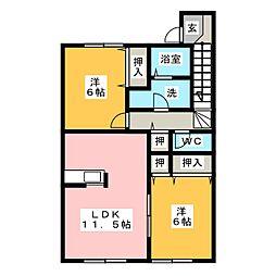 ハピネスタウンIII[2階]の間取り