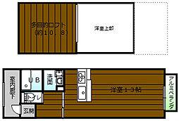 メゾネットsakura[203号室]の間取り