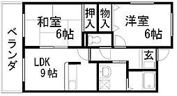 ロマーナ岸和田[205号室]の間取り