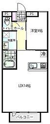 緑町新築アパート[102号室]の間取り