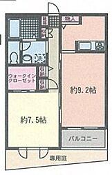 ピエーノ湘南石川[2階]の間取り