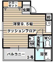 レインボー・シャインR/K[2階]の間取り
