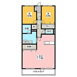石川橋ガーデンプラザ[2階]の間取り