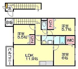 マーベラスコート[2階]の間取り