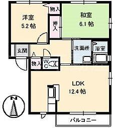 グランカーサB棟[1階]の間取り