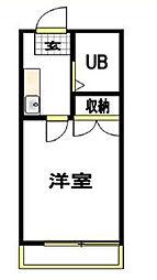 神奈川県横浜市金沢区金沢町の賃貸アパートの間取り
