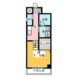 天王町コンフォート[6階]の間取り