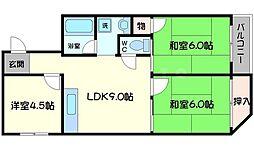ハイツタカヒロ[5階]の間取り