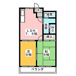 グレイス21[2階]の間取り