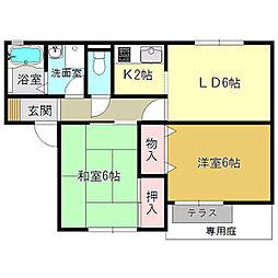 サンコート蔵之宮[2階]の間取り