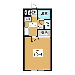 コンチネンタルミレニアム[1階]の間取り
