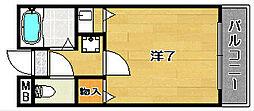 大阪府高槻市大手町の賃貸マンションの間取り
