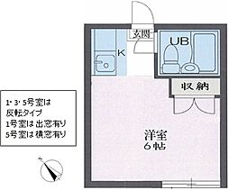 リイチ氷川台II[0101号室]の間取り