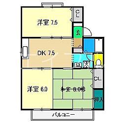 セジュール村田[1階]の間取り