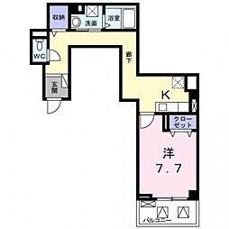 沢良宜東町マンション[2階]の間取り