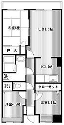 セレス 菅田[403号室]の間取り