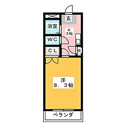 Phlox五反田[3階]の間取り