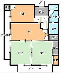 サンライフ稲積[3階]の間取り