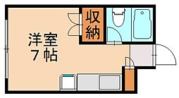 R The Residence 箱崎宮前[2階]の間取り