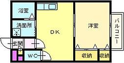 レストゥカンパーニュ[1階]の間取り