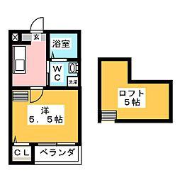 愛知県名古屋市西区名塚町3丁目の賃貸アパートの間取り