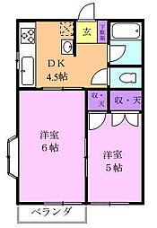 プランドールIS A棟[2階]の間取り