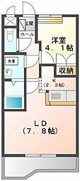 埼玉県日高市鹿山の賃貸アパートの間取り