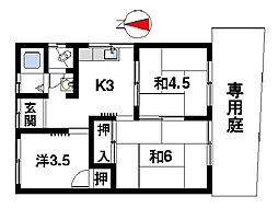 [テラスハウス] 奈良県奈良市大安寺1丁目 の賃貸【奈良県 / 奈良市】の間取り