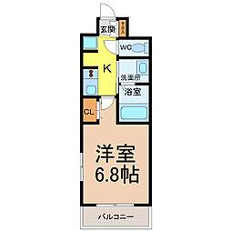愛知県名古屋市中区千代田5丁目の賃貸マンションの間取り