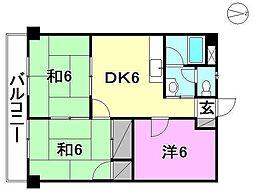 第94杉フラット[405 号室号室]の間取り
