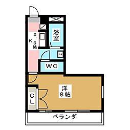 ローズタウン弐番館[2階]の間取り