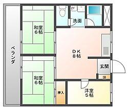 大産美野島ビル[7階]の間取り