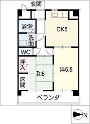 第1イッセイマンション[2階]の間取り