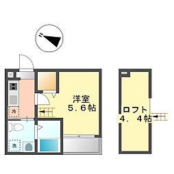 カーサベル稲生[2階]の間取り