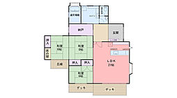 [一戸建] 福岡県福岡市西区今宿町 の賃貸【/】の間取り