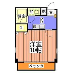 第6メゾン吾妻[4階]の間取り