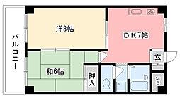 カサベージュ西田町[S206号室]の間取り