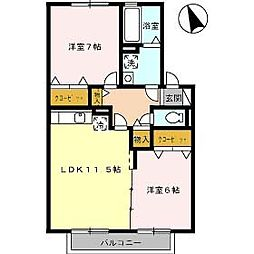 リヴェールC[2階]の間取り