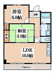 大阪府大東市南津の辺町の賃貸マンションの間取り